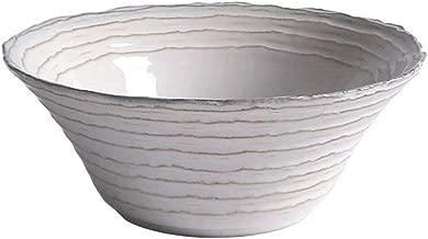 NJHDR Practical Home Tableware, Pasta Vegetable Fruit Salad Bowl Porridge Bowl Soup Bowl Home Rice Bowl (Size : 20.5 * 8CM)