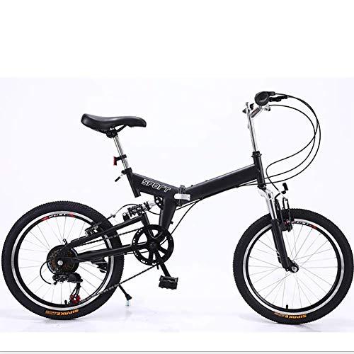 """Cvghnfk Bicicletta Pieghevole 20\"""" Pieghevole Sacchetto della Bici for la Bici/Folding Cyclette/Folding Bike Frames, Moda Mountain Bike Folding Mountain Bike Black Mountain Bike, Nero (Color : Black)"""