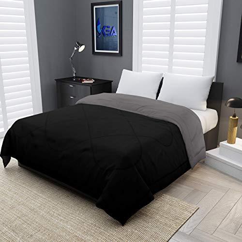 KEA Reversible Double Bed King Size Comforter/Duvet for Summers/Ac; Color Peach & Ablaze Aqua;...