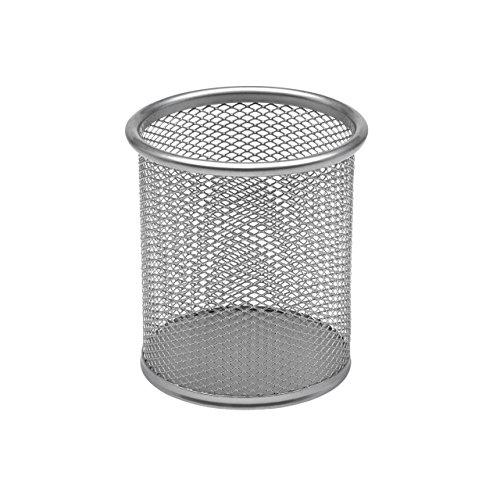 Osco Triple Mesh - Portalápices de malla metálica, color gris