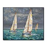 Segelboot Seascape Berühmte Ölgemälde Wandkunst Poster