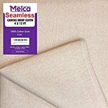 Drop Cloth Tarp Art Supplies - 4x12 Finished Size, Seams Only On The Edges, New Unmarked Fabric, Cotton Duck Fabric - Be Confident You Have The Canvas You Need.