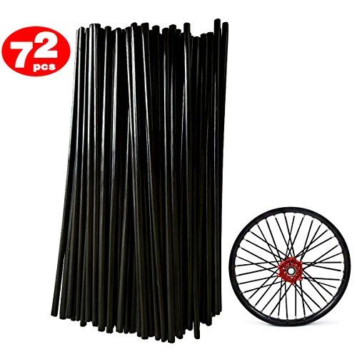 DIXIUZA 72Pcs Motorrad-Speichen Felle Decken Räder Trim Cover Pipe Dekorative Schutzhülle Kits Passend für Geländewagen Fahrrad Off-Road Dirty Bike