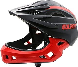EULANT Aktualisierter Fullface-Helm für Kinder, Kinderhelm mit Kinnschutz, Fahrradhelm für Mädchen und Jungen im Alter von 2-10 Jahren, passt Kopfgröße 48-56