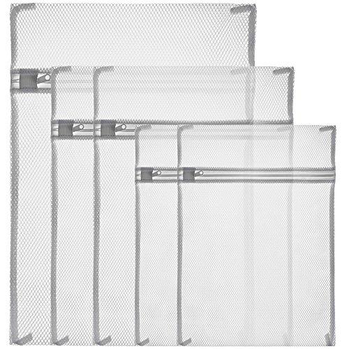 Zacro Laundry, White Zippered Mesh Washing Bags-Set of 5 (Small 2, Medium...