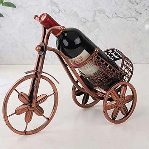 BANNESE Vintage Triciclo Botelleros Vino Creativing Freestanding Wine Rack para Almacenamiento De Vino Cerveza Whisky Estante De Vino Mostrar Estantería Tabletop Crafts Adornos