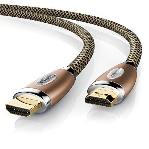 UpLink Câble Ultra HD 4K HDMI et connecteur haute vitesse avec Ethernet (3D ARC et CEC) et protection des contacts F: 10 m marron