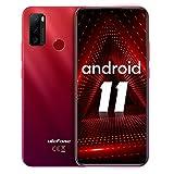 Telefonos movil Libres Baratos,Ulefone Note 10 moviles Android 11,Batería 5500mAh Pantalla 6,52 HD+ 4G Smartphone, cámara de 8MP+2MP+2MP Ranura para 3 Tarjetas Face ID,OTG(Rojo)