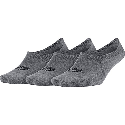 Nike Damen NSW 3 Paar Füßlinge, Karbon Heidekraut grau/Schwarz, M