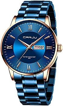 CRRJU Men's Minimalist Casual Luxury Auto Date Watch