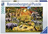 Ravensburger 16702 Gathering at The Waterhole - 2000 Piece Puzzle for Adults, Every Piece is Unique, Softclick Technology Means Pieces Fit Together Perfectly