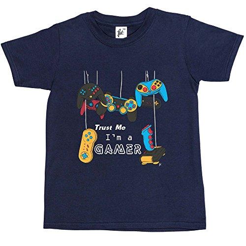 Fancy A Snuggle Trust Me Im A Gamer Console PC Controllers Joysticks Kids BoysGirls T Shirt Navy Blue 9 11 Year Old