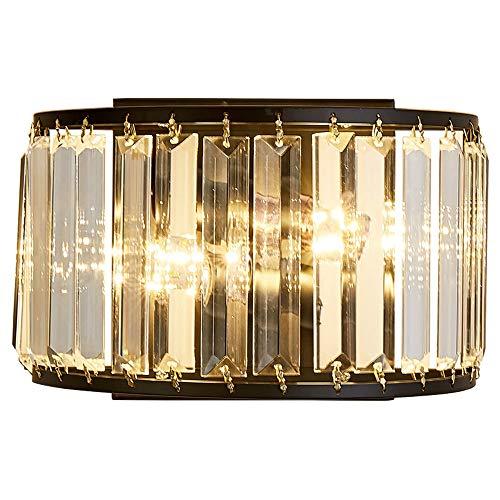Warm Home Lámpara de pared de cristal negro 24 * 14 cm Hotel Corredor Comedor Sala Dormitorio Luz LED Lujo Nórdico