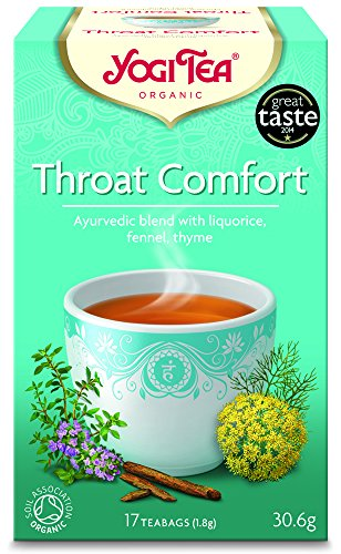 Yogi Tea Throat Comfort 17 Teabags (Pack of 6, Total 102 Teabags)