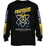 Disney Powerline Goofy Stand Out Tour Long Sleeve Mens T-Shirt(Black,X-Large)