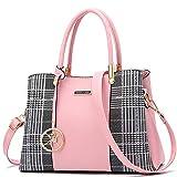 Bolso Mujer Bolso SeñOra Bolsos De Piel Gran Capacidad Bandolera Mujer Sencillez Bolso Tous Mujer Cuero PU Bolso Cruzado para Bolso Shopper Mujer Pink
