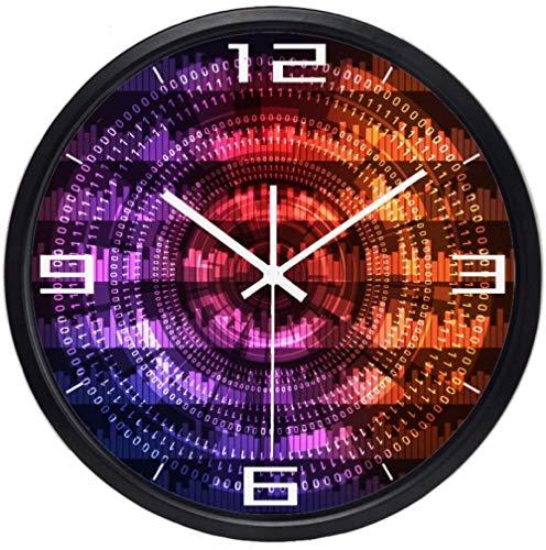 Reloj De Pared Codificación Por Computadora Programación Digital Sentido De La Tecnología Reloj De Pared Cuarzo Movimiento Silencioso Reloj Del Hogar Regalos De Inauguración Silencioso Fácil De Leer