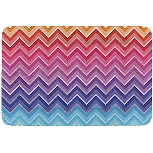 YAGEAD-Regenbogen-einfaches Haustier-Bett, Regenbogen farbige Zickzack Linie Kunst-Welle mögen Muster-symmetrische geometrische Formen