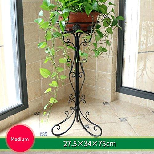 MLHJ NNIU- Stand de Fleur de Fer Balcon Simple étage Salon d'intérieur Fleur Bonsai Shelf Sub-Bonsai (Taille : 75 * 34cm)