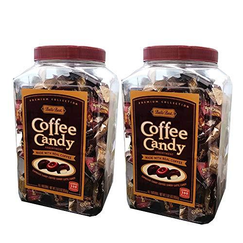 Bali's Best Coffee Candy Assortment, Original, Espresso & Latte, 300Count Jars 2 Pack