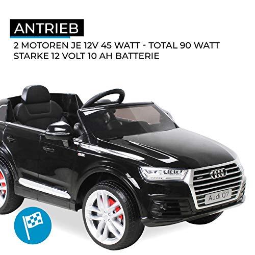 Actionbikes Motors Kinder Elektroauto Audi Q7 4M - Lizenziert - 2 x 45 Watt Motor - 2,4 Ghz Rc Fernbedienung - USB - Mp3 - Elektro Auto für Kinder ab 3 Jahre (Schwarz)