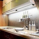 Bajo luces del gabinete de luz LED de bajo armario de la cocina con el enchufe blanco fresco blanco caliente debajo del mostrador luz del armario Luz Librería Luz Armarios (blanco fresco) wzmdd