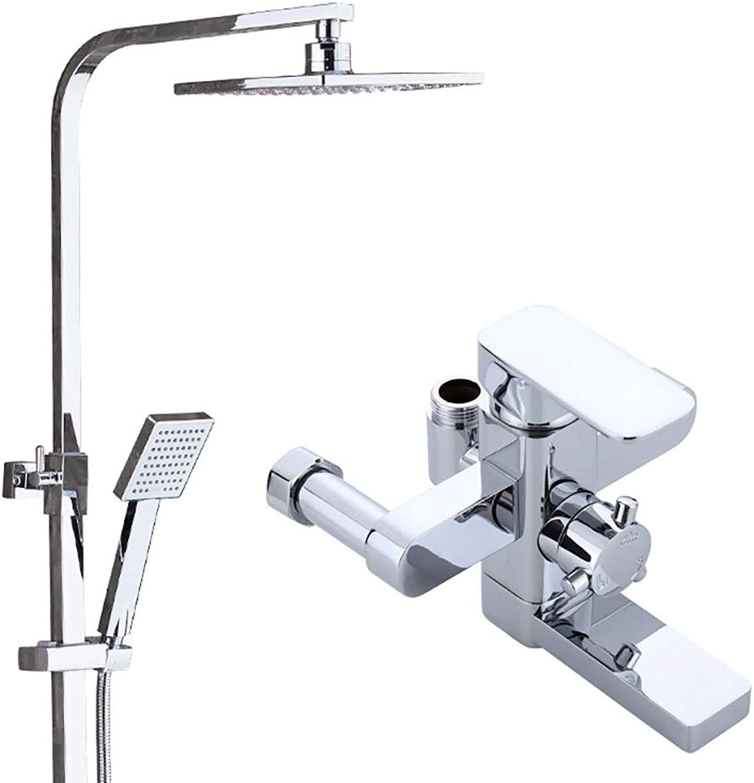 WYRSXPY Erhhte Dusche Auffrischungsdusche Kann Heben 3-stufige Einstellung Messingmischer Duschset (Farbe   Silber)