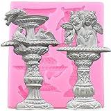 VIOYO 3D-Springbrunnen mit Vogel-Motiv, aus Silikon, für Fondant, zum Dekorieren von Torten, zum...