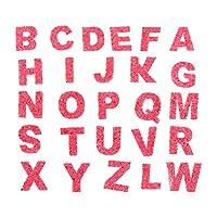 EXCEART アルファベットsew鉄onパッチa Z手紙アップリケ修理パッチ鉄手紙アルファベットパッチ洋服バッグdiyクラフトインテリア用品赤
