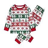 Woohooens Invierno Conjunto Pantalones y Camiseta de Algodón Ropa de Dormir a Cuadros Romper Homewear Sudadera Chándal Suéter