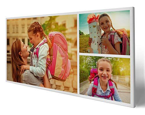wandmotiv24 Fotocollage, 3 Fotos auf Leinwand, querformat 40x20cm (BxH), Leinwandbilder, Bilder Collagen, Fotowand Collage, personalisierte Fotogeschenke, Foto selbst gestalten M0002
