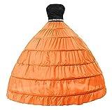 VERNASSA Vestido de Novia para Mujer Vestido de Medio Deslizamiento Completo A línea 6 Aro Enagua Bata de baño de Crinolina