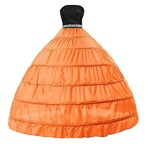 VERNASSA Vestido de Novia para Mujer Vestido de Medio Deslizamiento Completo A lnea 6 Aro Enagua Bata de bao de Crinolina
