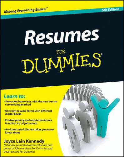 Resumes For Dummies (Job Search Cover Letter Samples Career Change)