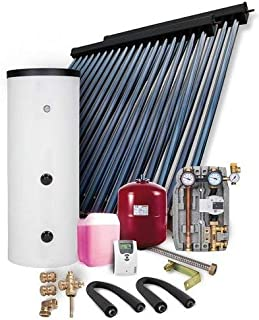 Paquete de instalación solar HP30 9,78 m2, colector de tubos de vacío, depósito de agua fresca 400 l