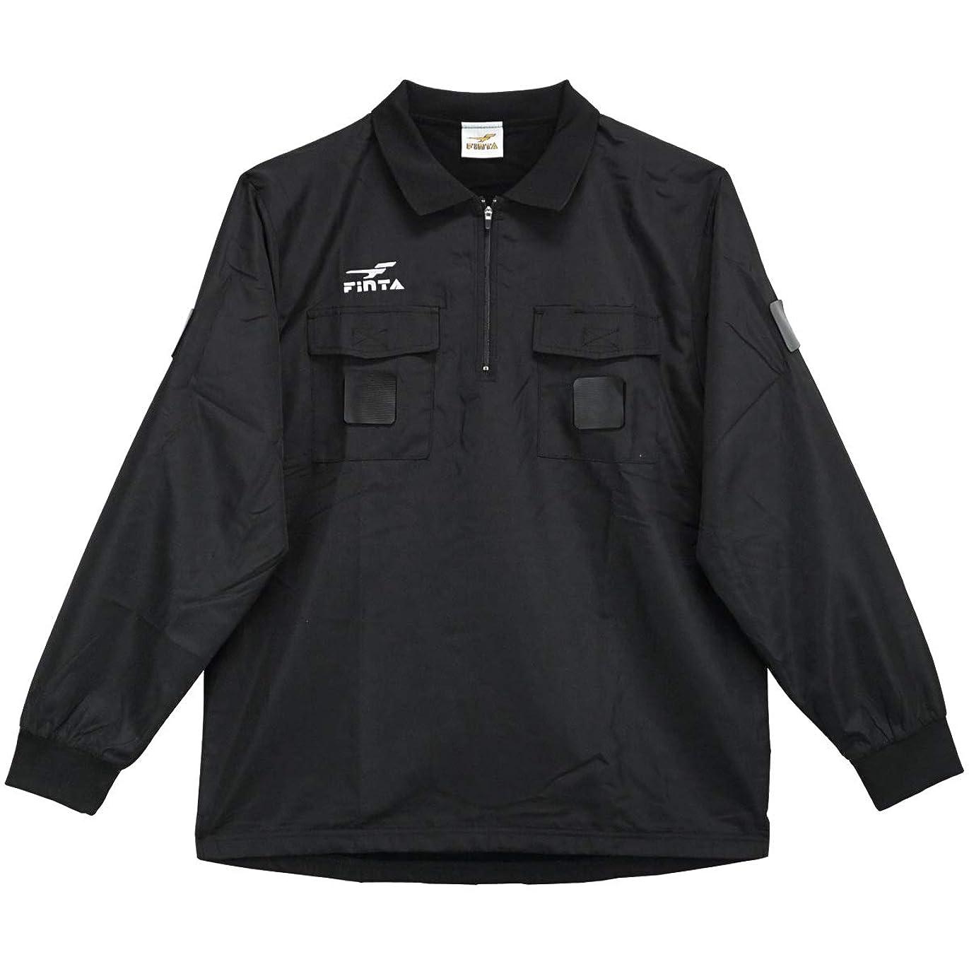 スタッフアーチ予言する[フィンタ] サッカー レフリー 冬用4点セット ブラック FT5150
