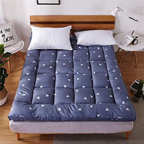 Einfarbig Verdicken Tatami matratze Anti-rutsch Faltbare japanische Matratze pad Quilten Atmungsaktiv Single Futonbett Matratze Für Student Schlafsaal etcA-150x200cm(59x79inch)