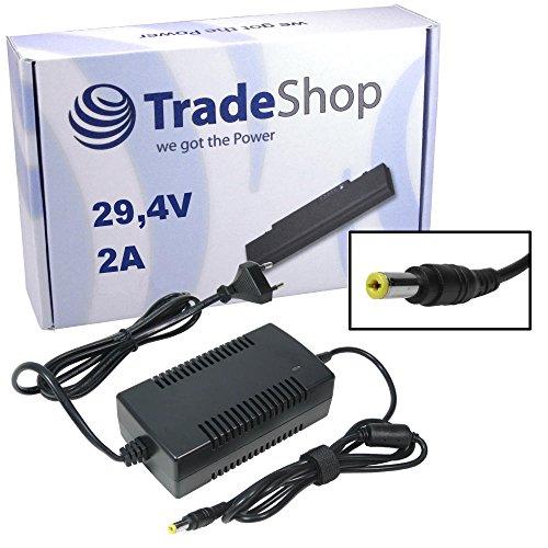 Trade-Shop eBike Elektro-Fahrrad Pedelec Netzteil Ladegerät Ladekabel 29,4V 2A für 24V Akkus mit 5,5mm x 2,1mm Rundstecker für Fahrrad Akkus zum Aufladen
