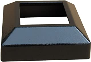 Contractor Deck Railing Aluminum 3x3 Post Base Cover - Hammered Black - Low Profile
