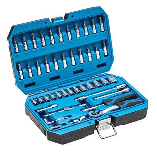 HÖGERT HT1R416 Werkzeugsatz, schwarz/Blau, 1/4″