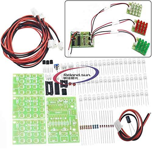 Reland Sun Breadboard módulo electrónica aprendizaje kit DIY CD4017+ne555 estroboscópico DIY kit