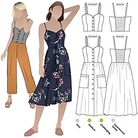 Sizes 04-16 - Click for Other Sizes Available Asha Dress Style Arc Sewing Pattern