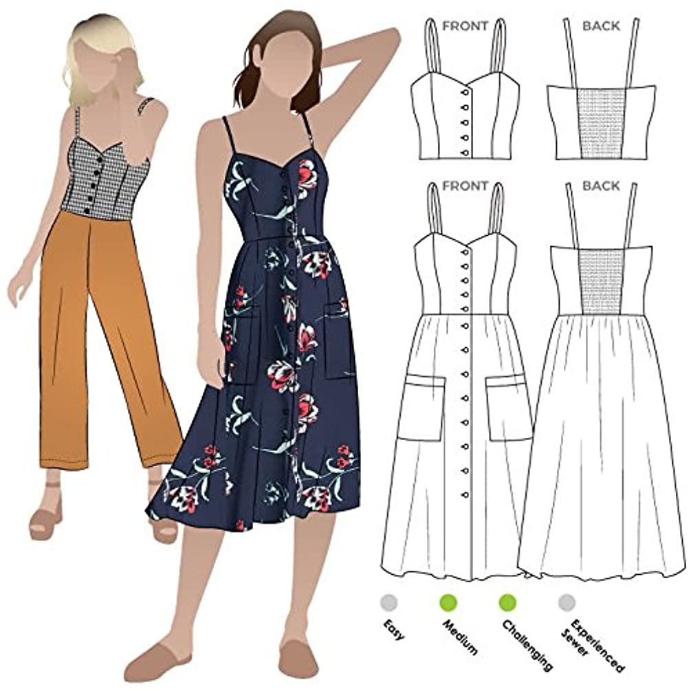 Style Arc Sewing Pattern - Ariana Woven Dress (Sizes 04-16) - Click for Other Sizes Available