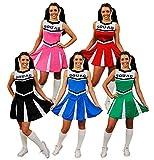 I LOVE FANCY DRESS LTD Cheerleader KOSTÜM VERKLEIDUNG=5 Farben+6 GRÖSSEN=SEXY Fasching Karneval...