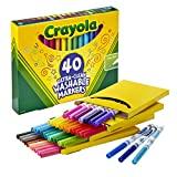 Crayola Ultra Clean Washable Markers, Fine Line Marker Set, Gift...