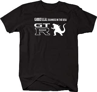 Nissan GTR Skyline Godzilla Banned USA Racing Performance Mens T Shirt