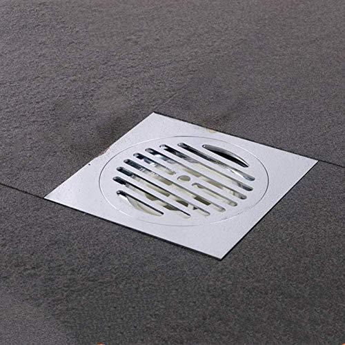YYALL drenaje de piso cromado de latón engrosado drenaje de piso 150 * 150 mm gran drenaje de río baño ducha desagüe de alta calidad