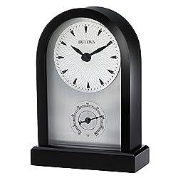 Bulova B5007 Madison Table Clock w/ Thermometer