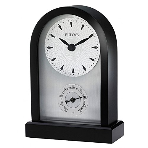 Bulova B5007 Madison Table Clock w/ Thermometer