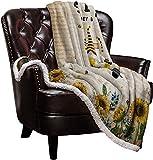 Warm Soft Fleece Throw Blanket, Sweet Honey Bees Truck Loads Gnomes - Cozy Plush Lightweight Blanket | Winter Couch Bed Sofa Decorative Microfiber Fleece Throws, 59' x 79'